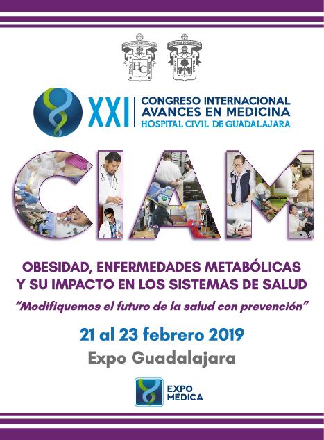 ¡Asiste al XXI Congreso Internacional Avances en Medicina!  Del 21 al 23 de febrero, Expo Guadalajara.