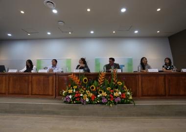 Foto de los miembros del Presidium en la inauguración del Seminario DAAD