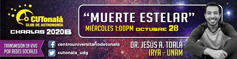 """Conferencia del Club de astronomía"""" Muerte estelar"""" 28 de octubre"""