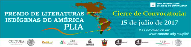Premio de Literaturas Indígenas de América Cierre de Convocatoria 15 de Julio 2017