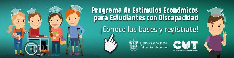 Programa de Estímulos Económicos a Estudiantes con Discapacidad 2018-A