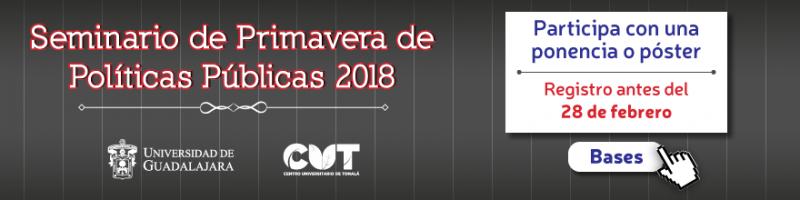 CONVOCATORIA SEMINARIO DE PRIMAVERA DE POLÍTICAS PÚBLICAS 2018