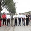 Corte de listón en la calle Liceo con diferentes autoridades