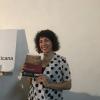 Dra, Jessica Marcelli en la presentación de su libro